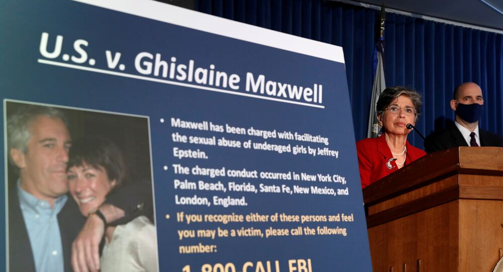 FILE PHOTO: Audrey Strauss, acting U.S. attorney for the Southern District of New York, speaks alongside William F. Sweeney Jr., assistant director-in-charge of the New York Office, at a news conference announcing charges against Ghislaine Maxwell for her alleged role in the sexual exploitation and abuse of minor girls by Jeffrey Epstein in New York City, New York, U.S., July 2, 2020