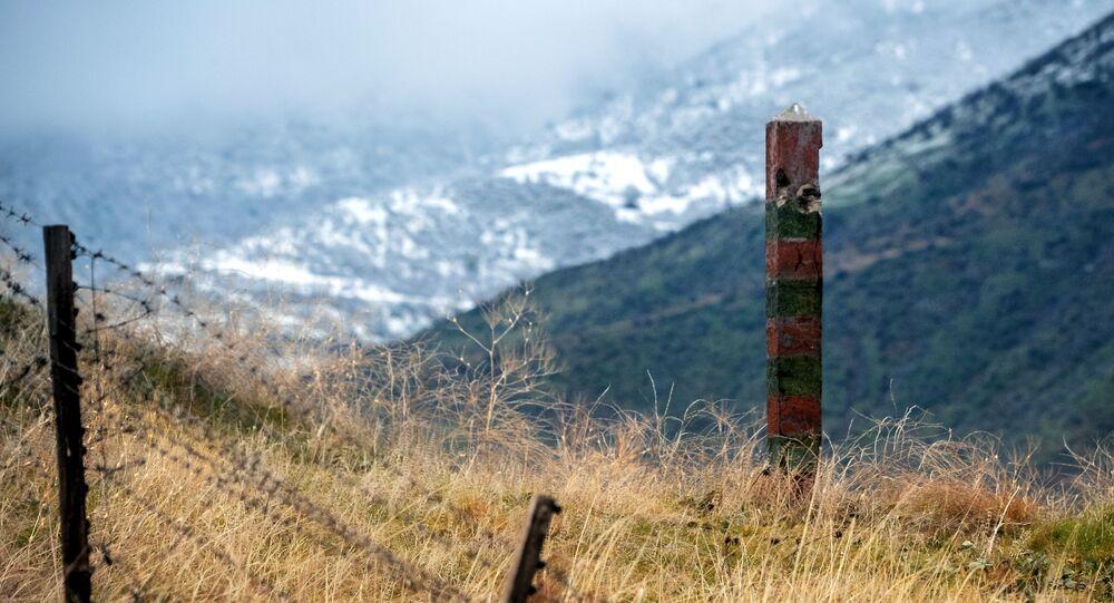 A border post from the Soviet era on the border of Azerbaijan with Iran.