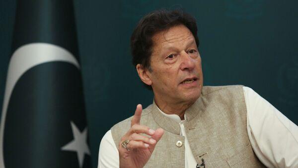 Pakistan's Prime Minister Imran Khan speaks during an interview with Reuters in Islamabad, Pakistan, 4 June 2021 - Sputnik International