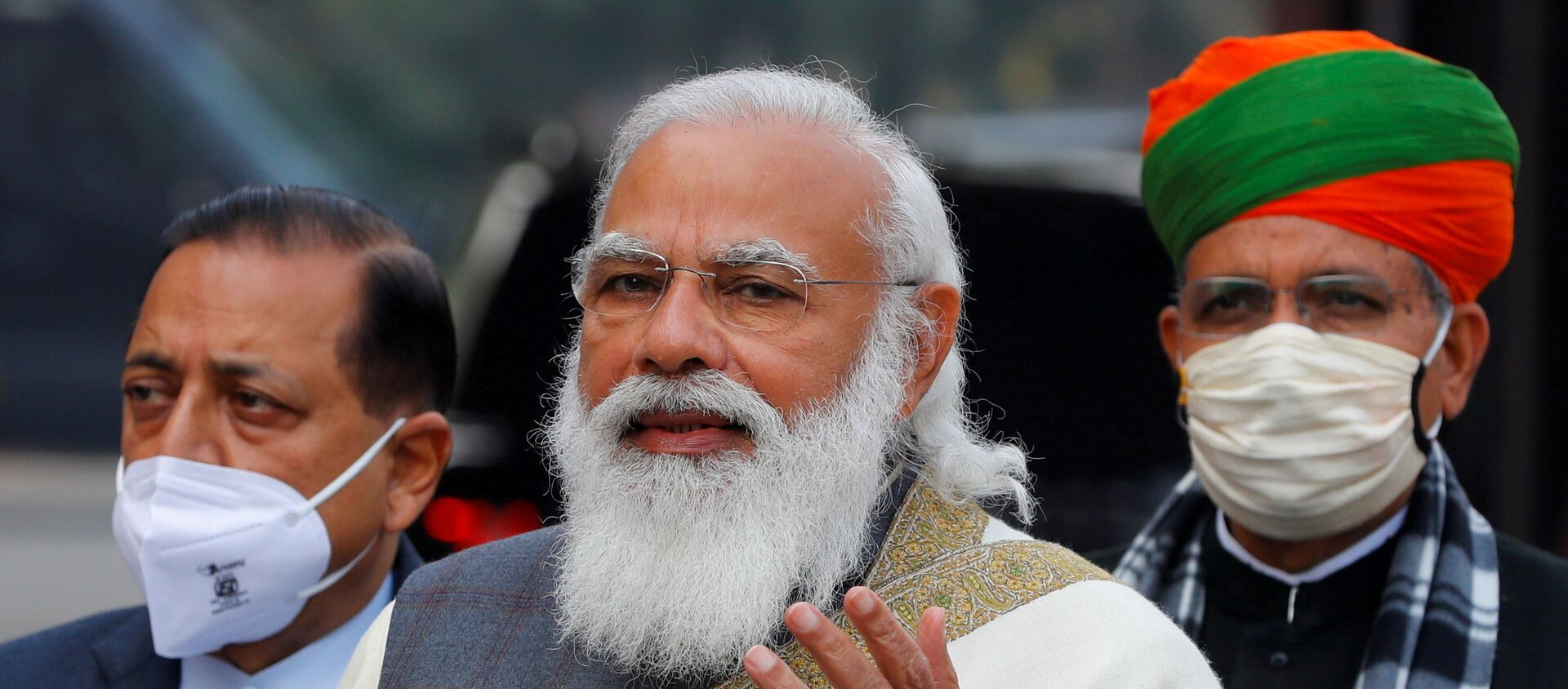 FILE PHOTO: India's Prime Minister Narendra Modi arrives at the parliament house to attend the first day of the budget session, in New Delhi - Sputnik International, 1920, 28.06.2021