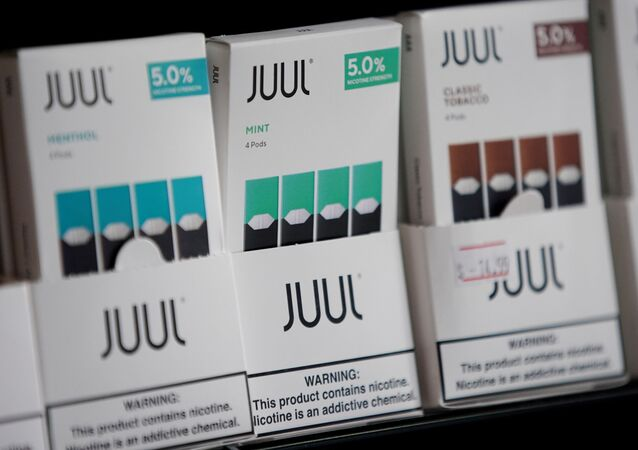 Juul brand vape cartridges are pictured for sale at a shop in Atlanta, Georgia, U.S., September 26, 2019