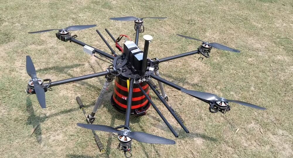 Indigenous Drone Equipped with Multipurpose Air-Drop System, Developed by Indian Scientist Milind Raj
