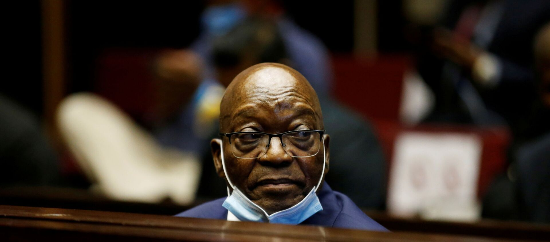 Former South African President Jacob Zuma sits in the dock after recess in his corruption trial in Pietermaritzburg, South Africa, May 26, 2021 - Sputnik International, 1920, 29.06.2021