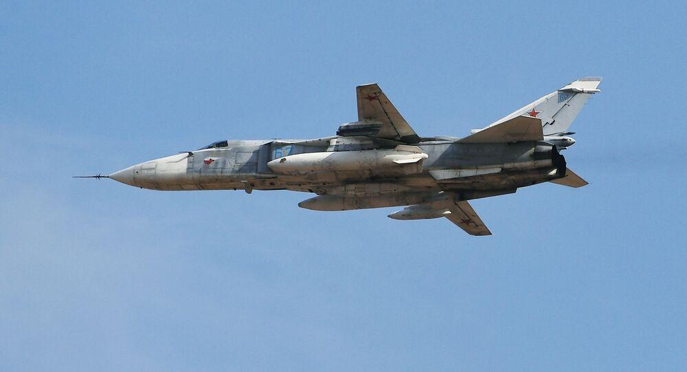 Russian Su-24M fighter jet modification