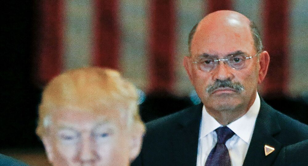 Trump Organization chief financial officer Allen Weisselberg looks on as then-U.S. Republican presidential candidate Donald Trump speaks during a news conference at Trump Tower in Manhattan, New York, U.S., May 31, 2016.