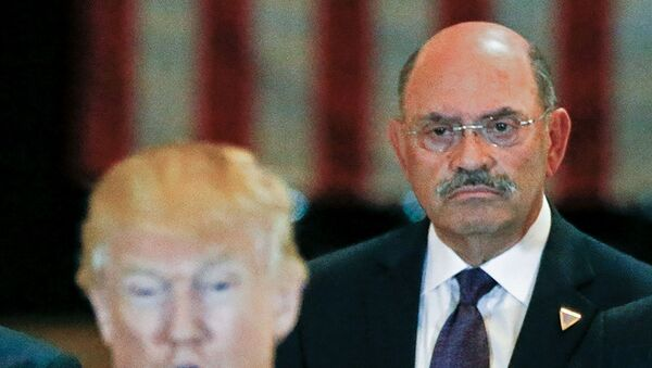 Trump Organization chief financial officer Allen Weisselberg looks on as then-U.S. Republican presidential candidate Donald Trump speaks during a news conference at Trump Tower in Manhattan, New York, U.S., May 31, 2016. - Sputnik International