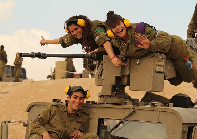 Israel Defense Forces - Female Tank Instructors Conduct Drill