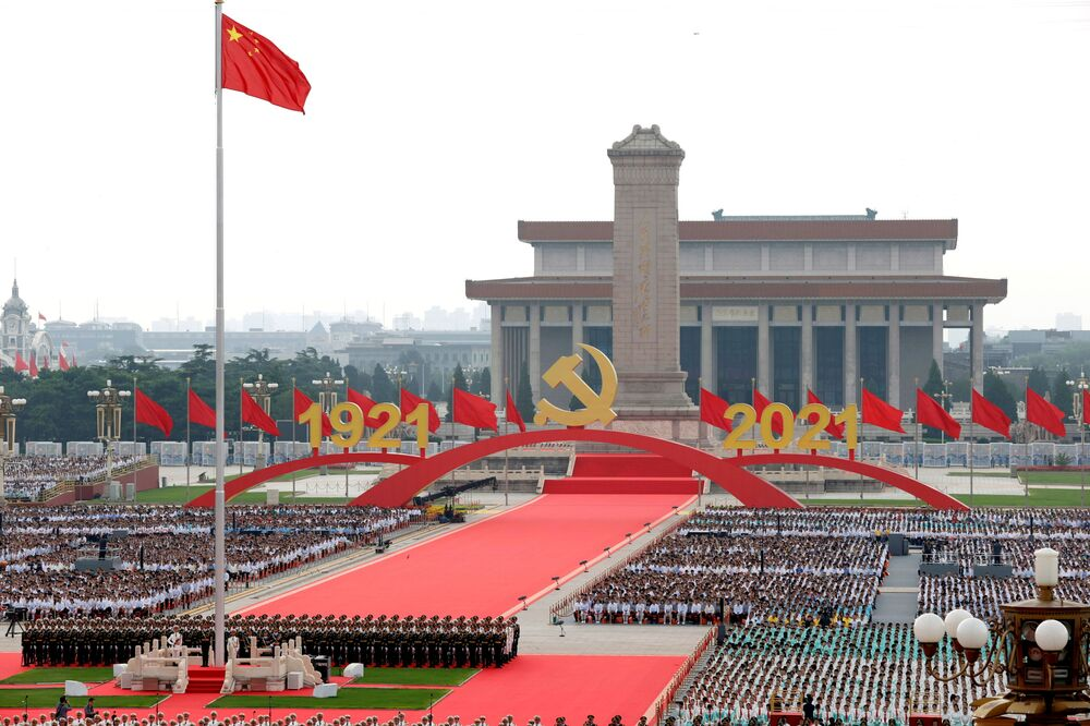 The Chinese Communist Party first announced plans to hold grand celebrations to mark its 100th anniversary in March.