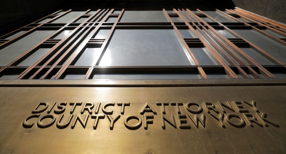 The entrance to the The New York County District Attorney's office at 1 Hogan Place is seen in Manhattan in New York City, 29 June 2021
