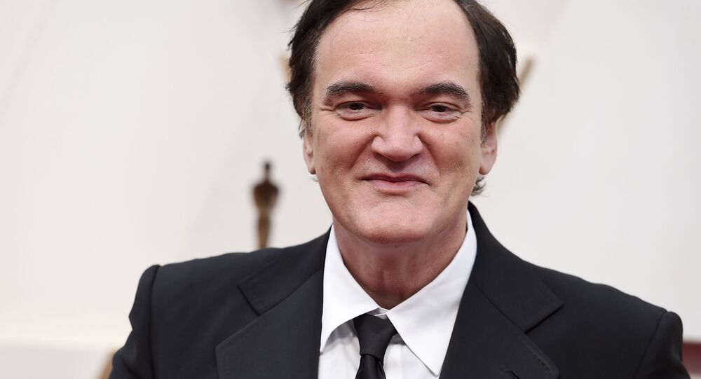 Quentin Tarantino arrives at the Oscars on Sunday, Feb. 9, 2020, at the Dolby Theatre in Los Angeles