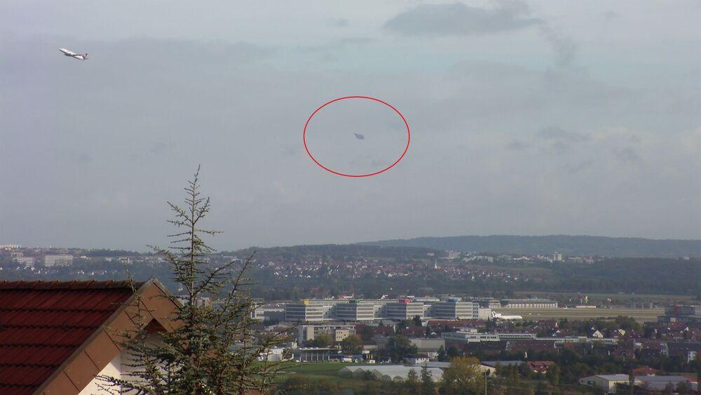 A UFO near Stuttgart Airport in Germany.