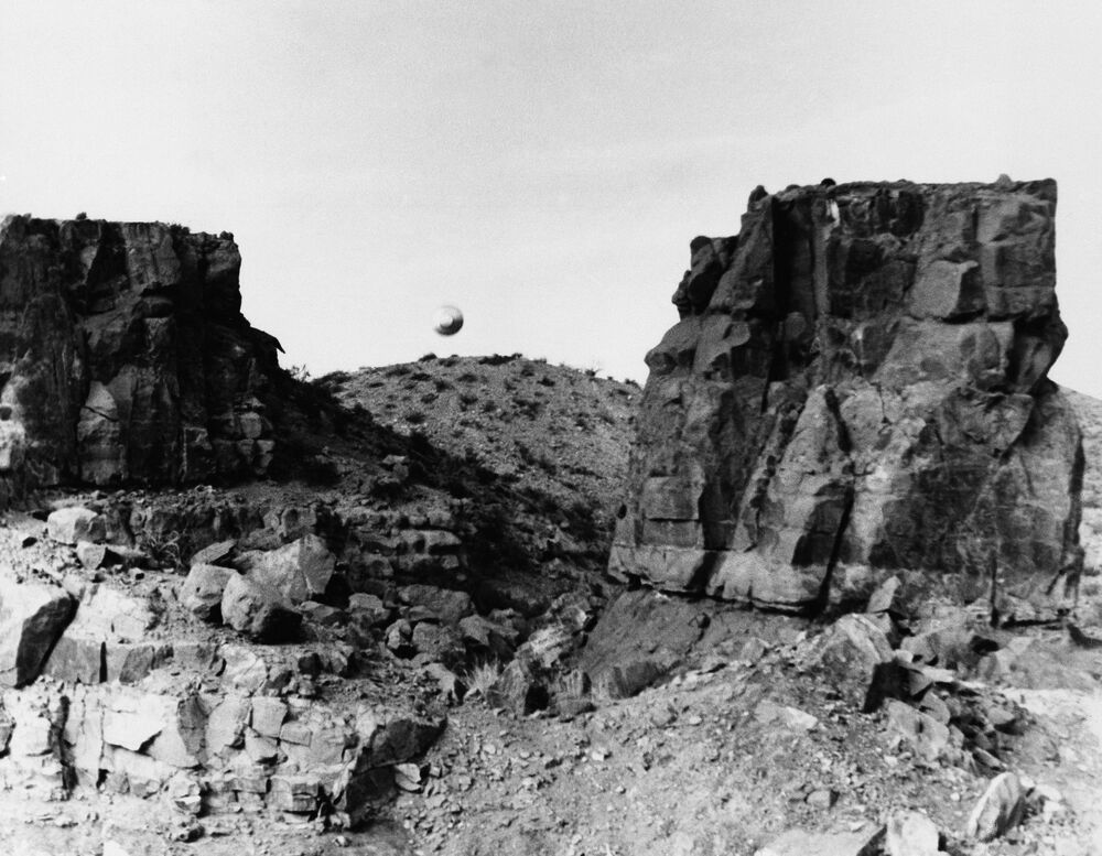 A UFO sighted by a New Mexico State University student, West of Picacho Peak, Las Cruces, New Mexico, on 12 March 1967.