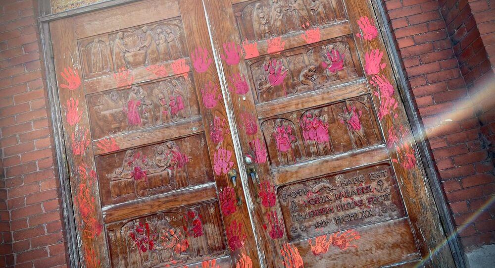 Churches have been vandalised across Alberta