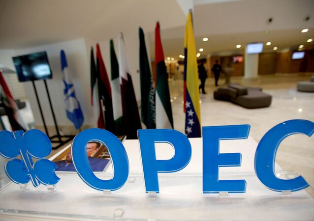 The OPEC logo pictured ahead of an informal meeting between members of the Organization of the Petroleum Exporting Countries (OPEC) in Algiers, Algeria, September 28, 2016.