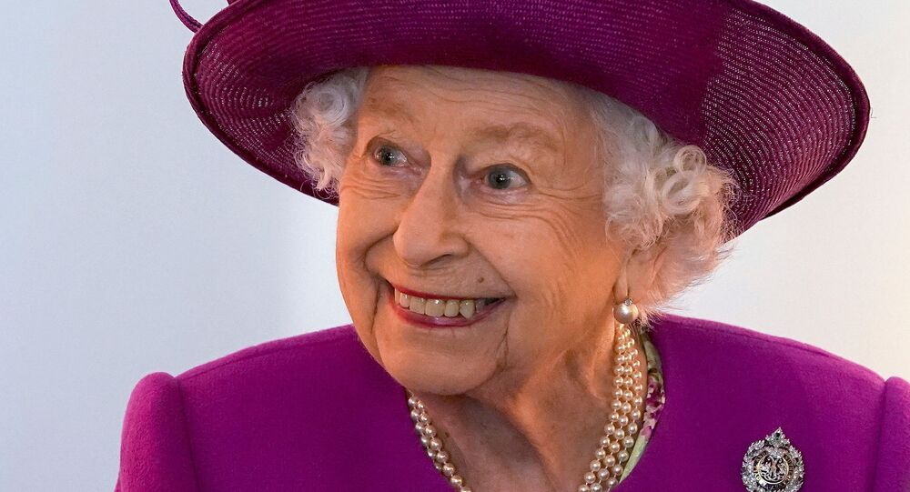 Britain's Queen Elizabeth views exhibits in the renovated Argyll and Sutherland Highlanders Museum at Stirling Castle as part of her traditional trip to Scotland for Holyrood Week, in Stirling, Scotland, Britain June 29, 2021