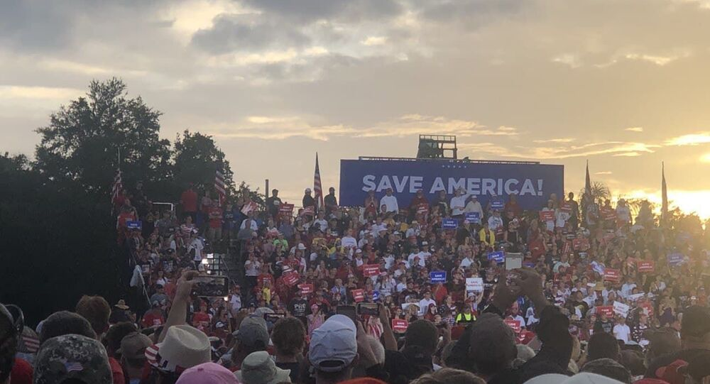 Donald Trump's  'Save America' campaign-style rally in Sarasota, Florida, 3 June, 2021