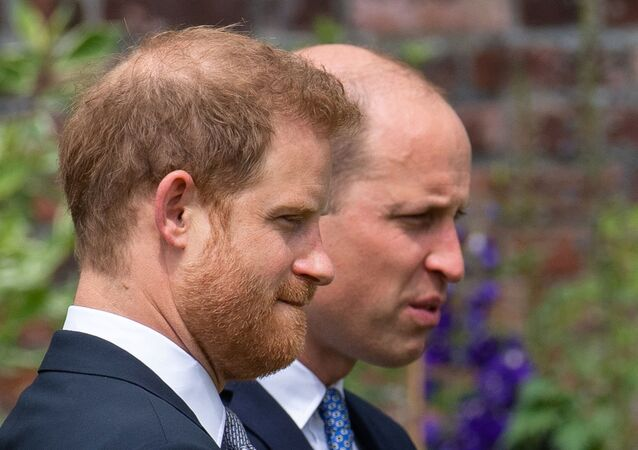Britain's Prince William, The Duke of Cambridge, and Prince Harry, Duke of Sussex, attend the unveiling of a statue they commissioned of their mother Diana, Princess of Wales, in the Sunken Garden at Kensington Palace, London, Britain July 1, 2021