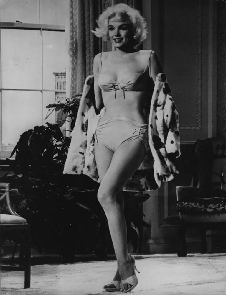Sex symbol Marilyn Monroe in Something's Got to Give, 1962.