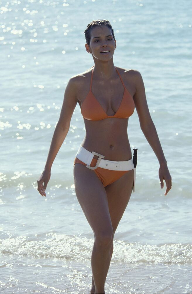 Halle Berry's bikini look in Die Another Day, 2002.