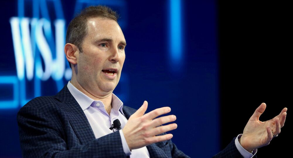 Andy Jassy, CEO Amazon Web Services, speaks at the WSJD Live conference in Laguna Beach, California, U.S., October 25, 2016. REUTERS/Mike Blake//File Photo