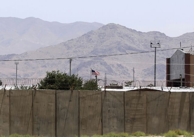 The flag of the United States flies over Bagram Air Base, in Afghanistan, Friday, June 25, 2021.