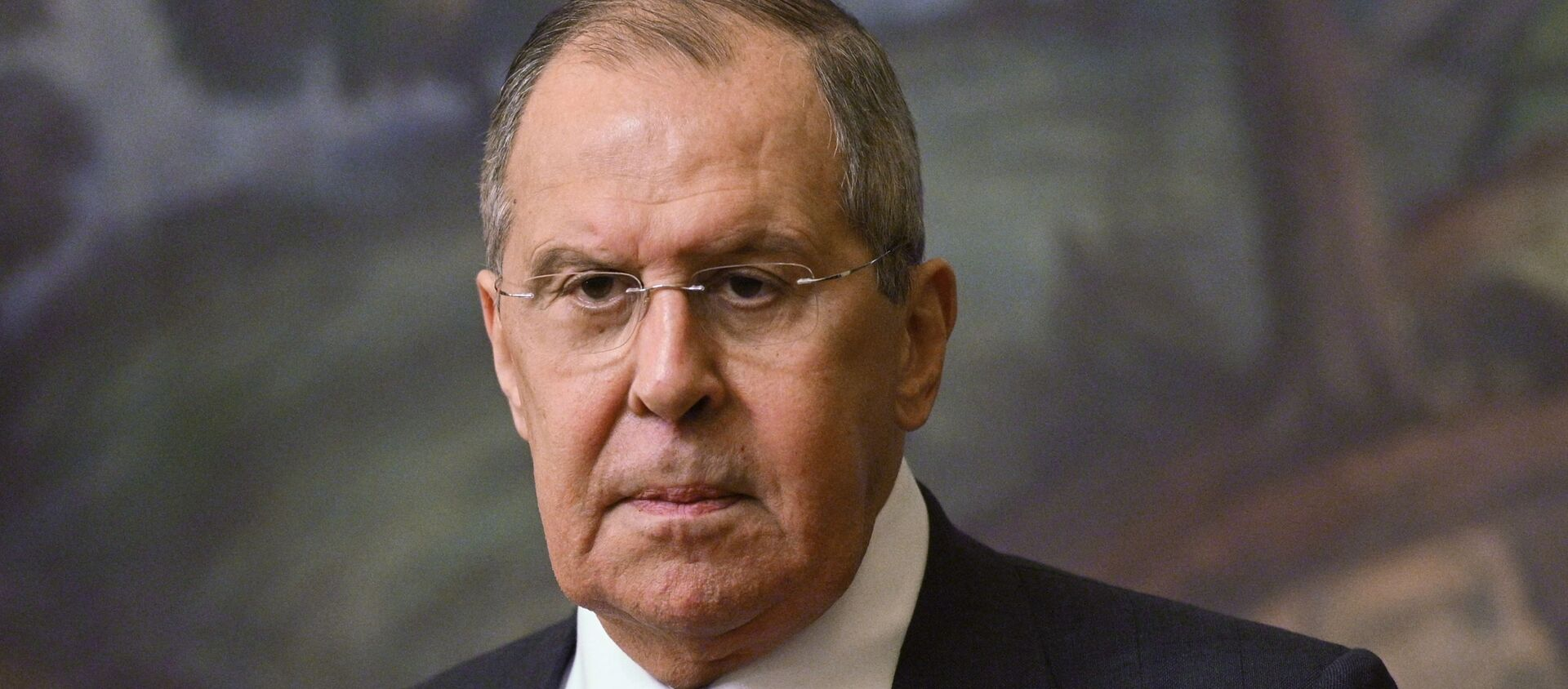 Russian Foreign Minister Sergei Lavrov at a press conference following a meeting in Moscow with the Minister of Foreign Affairs of the Kingdom of Bahrain Abdel Latyf bin Rashid Az-Zayani. - Sputnik International, 1920, 06.07.2021