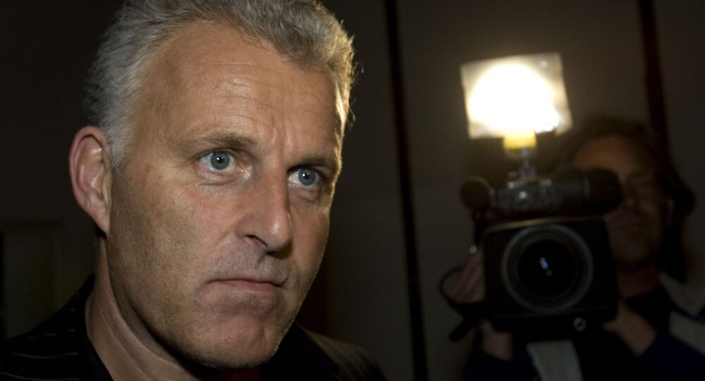In this Thursday Jan. 31, 2008 file photo, Dutch crime reporter Peter R. de Vries reacts prior to attending a live TV show in Amsterdam, Netherlands.