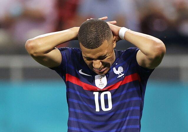 June 28, 2021 France's Kylian Mbappe reacts