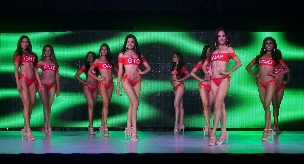 Miss Mexico contestants pose with swimming suits during the Miss Mexico beauty pageant where some contestants tested positive for the coronavirus disease (COVID-19) along with one staff member, in Chihuahua, Mexico June 30, 2021