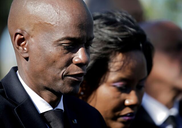 FILE PHOTO: Haiti's President Jovenel Moise and first lady Martine attend a ceremony at a memorial for the tenth anniversary of the January 12, 2010 earthquake, in Titanyen, Haiti, January 12, 2020. REUTERS/Andres Martinez Casares/File Photo