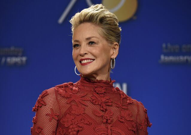 Sharon Stone poses during the nominations for the 75th Annual Golden Globe Awards on Dec. 11, 2017, in Beverly Hills, Calif