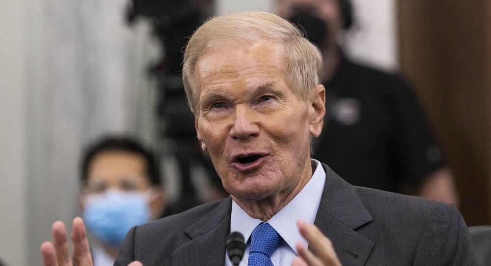 Former Sen. Bill Nelson, nominee to be administrator of NASA, testifies during a Senate Committee on Commerce, Science, and Transportation confirmation hearing, Wednesday, April 21, 2021 on Capitol Hill in Washington.