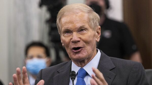 Former Sen. Bill Nelson, nominee to be administrator of NASA, testifies during a Senate Committee on Commerce, Science, and Transportation confirmation hearing, Wednesday, April 21, 2021 on Capitol Hill in Washington. - Sputnik International
