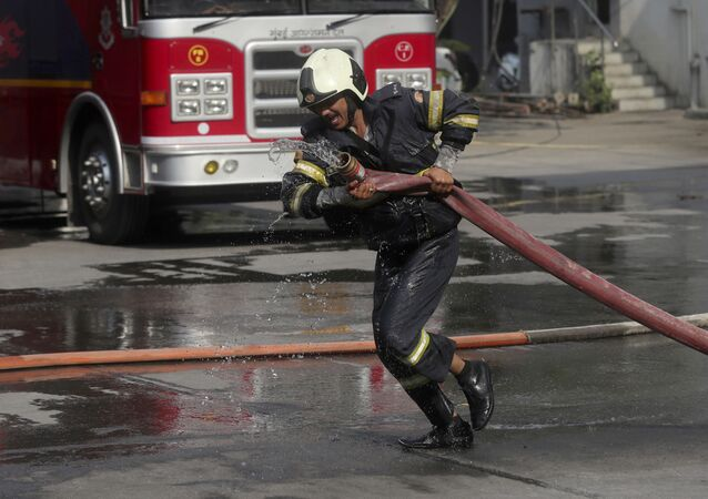 An Indian firefighter (File)