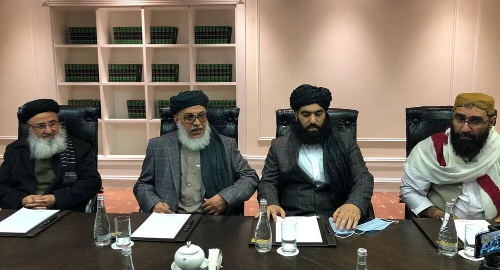 A delegation of the Taliban movement