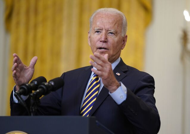 President Joe Biden speaks about the American troop withdrawal from Afghanistan, in the East Room of the White House, Thursday, July 8, 2021, in Washington.