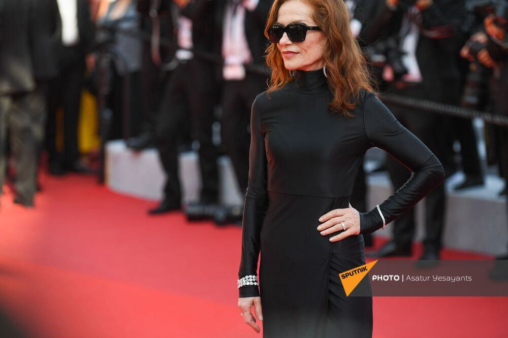 Isabelle Huppert during the red carpet arrivals for the film Everything Went Fine.