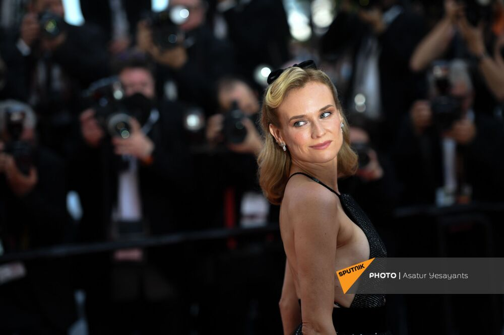 Diane Kruger brought the sparkle and glamour to the famous red carpet along the French Riviera.