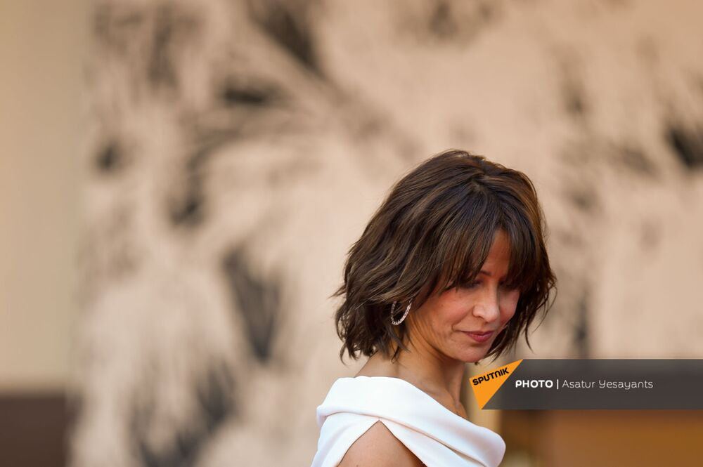 French star Sophie Marceau on the red carpet to present her latest movie, Everything Went Fine.