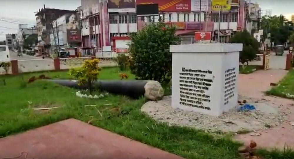 1971 Bangladesh Liberation War Memorial removed from Post Office and placed at Lichu Bagan, Tripura