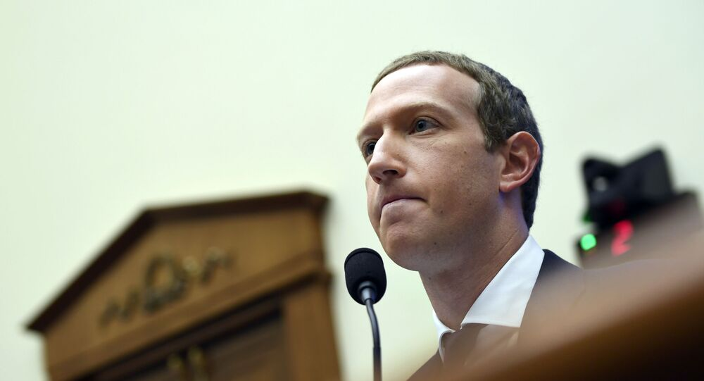 In this Oct. 23, 2019, file photo, Facebook Chief Executive Officer Mark Zuckerberg testifies before the House Financial Services Committee on Capitol Hill in Washington.  Facebook's quasi-independent oversight board last week said the company was justified in suspending Trump because of his role in inciting deadly violence at the U.S. Capitol on Jan. 6, 2021