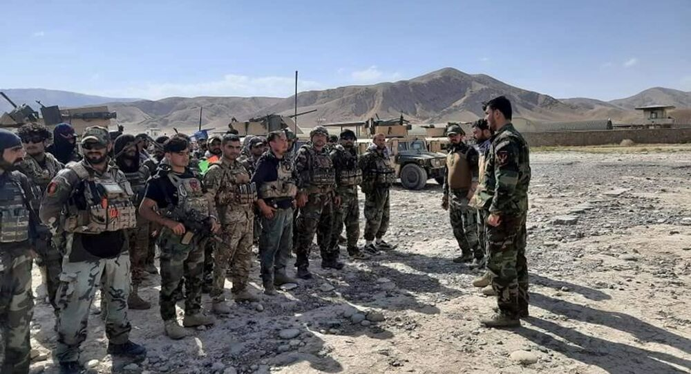 Afghan commandos arrive to reinforce security forces in Faizabad, capital of Badakhshan province, after the Taliban captured neighbourhood districts of Badakhshan recently, July 4, 2021.