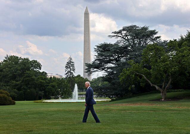 U.S. President Joe Biden departs the White House in Washington, U.S., July 9, 2021 for Wilimington, Delaware.