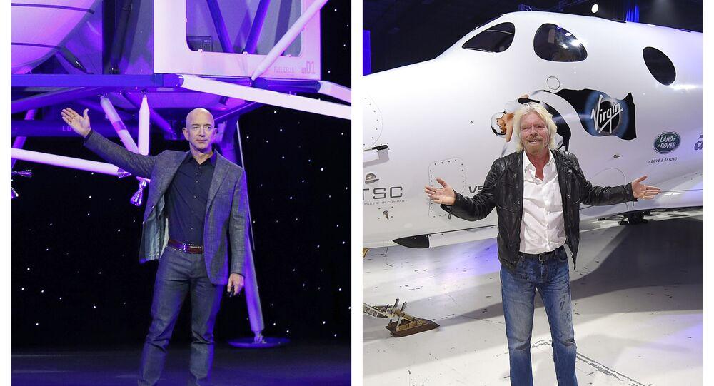 Bezos' Blue Origin Says Branson's Flight Won't be Internationally Recognised as Space Trip - Sputnik International