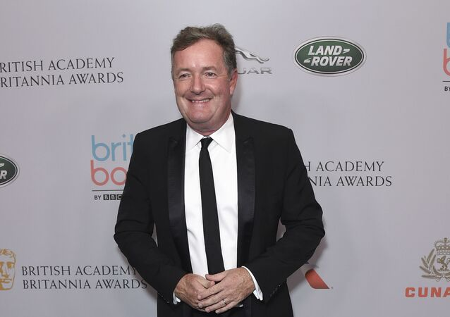 Piers Morgan arrives at the BAFTA Los Angeles Britannia Awards at the Beverly Hilton Hotel on Friday, Oct. 25, 2019, in Beverly Hills, Calif