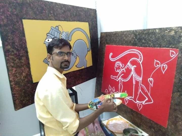 Assam artist.