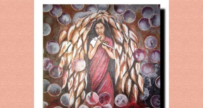 Artworks based on angel painting series