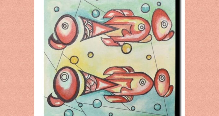 An untitled series on fish paintings