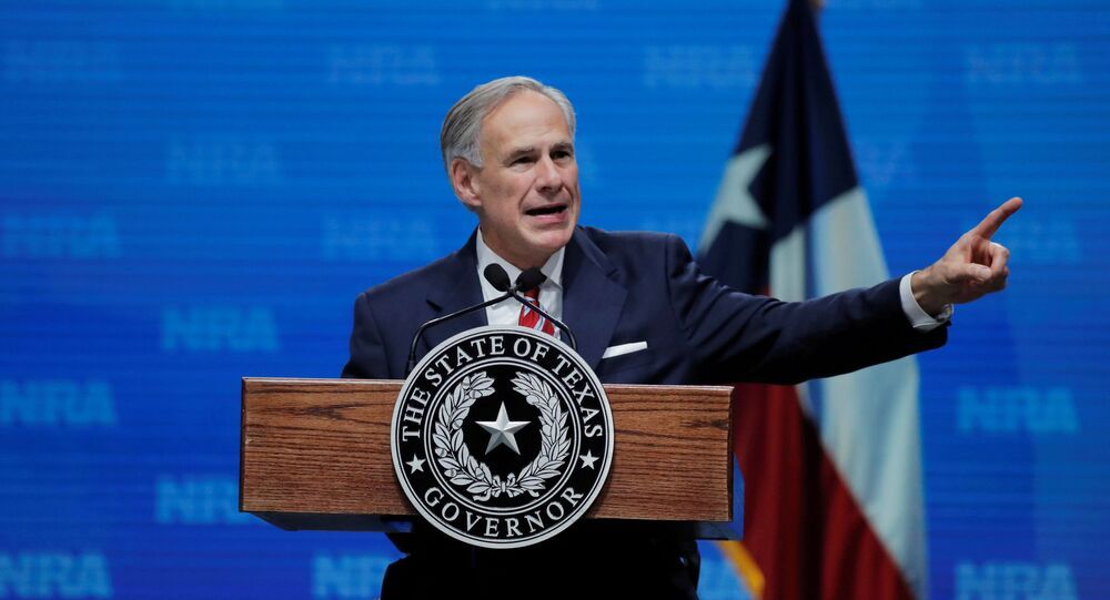 Texas Governor Greg Abbott speaks at the annual National Rifle Association (NRA) convention in Dallas, Texas, U.S., May 4, 2018