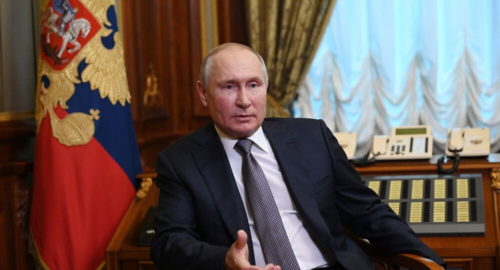 Russian President Vladimir Putin responds to questions about his article On the Historical Unity of Russians and Ukrainians
